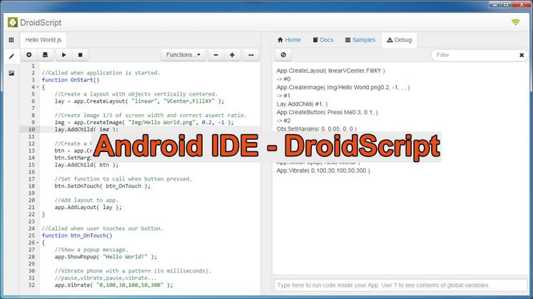 Android IDE - DroidScript
