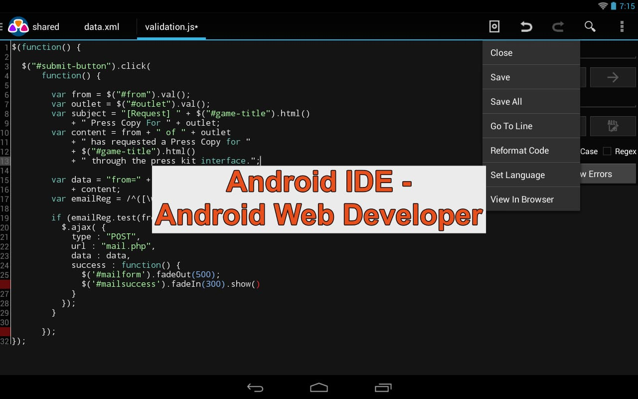 Android Web Developer (AWD)