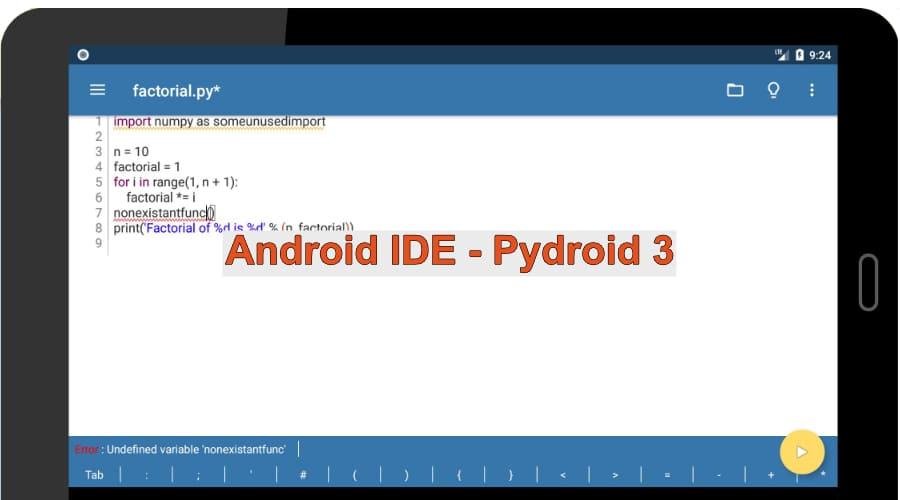 Python Suite - Pydroid 3